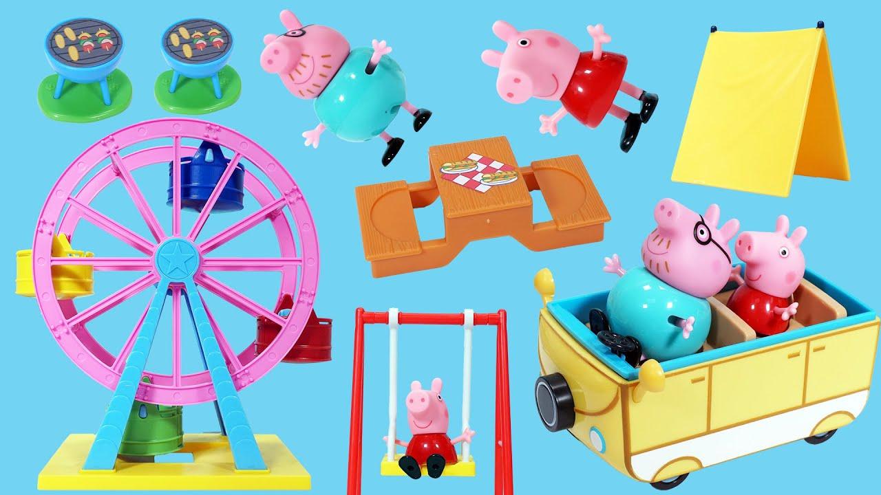 佩佩豬的黃色野營車玩具