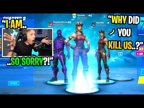 I Killed Friendly SEASON 1 Players Then Added Them After In Fortnite... (they Confronted Me)