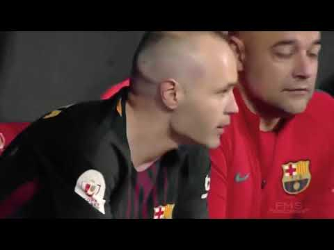 Andres Iniesta crying on last final game for Barcelona