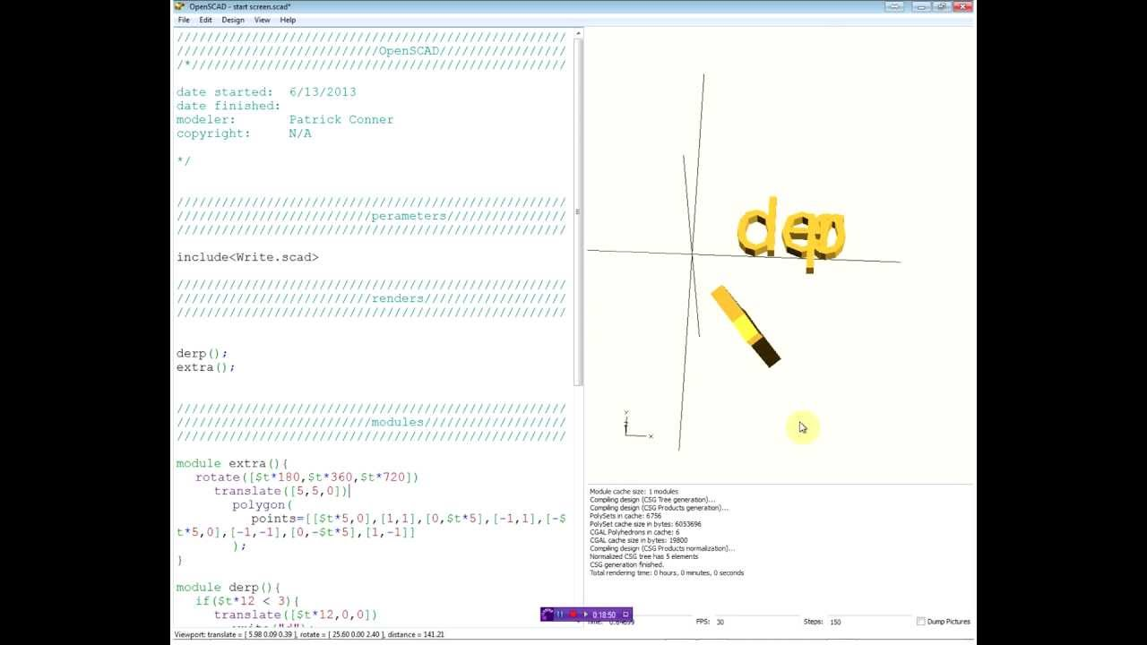 Animation in OpenSCAD - YouTube