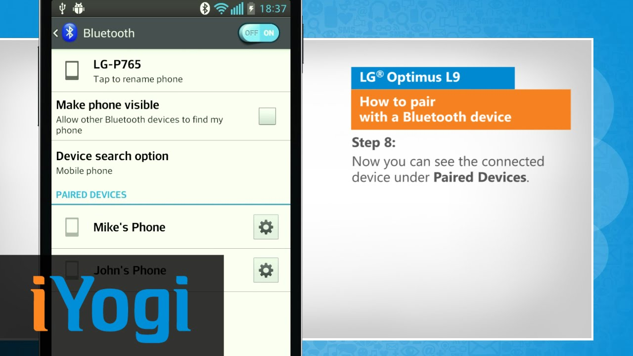 How to pair with a bluetooth device in lg optimus l9 youtube how to pair with a bluetooth device in lg optimus l9 ccuart Choice Image