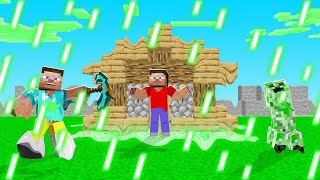 Minecraft BUT The RAIN MELTS EVERYTHING! (deadly)