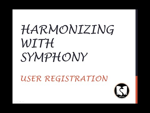 Harmonizing With Symphony - User Registration