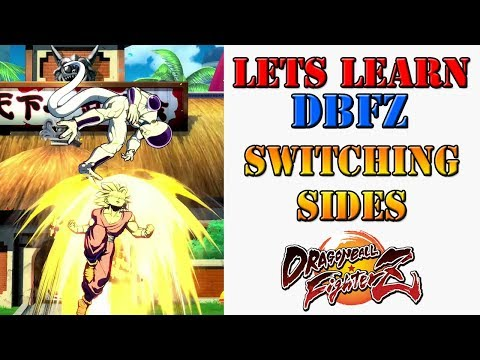 Lets learn DBFZ! - How to switch sides in the middle of a combo