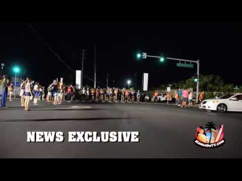 Maui Marathon - Car Plows Through Crowd at Starting Line (skip to 44s)