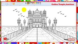 How to Draw Golden Temple, Amritsar | LearnByArt