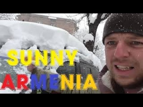Weather JOKE @ SUNNY Armenia Mountain Snow In March April Cold Frost Spring Армения весной погода