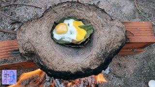 Nấu Trứng Trong Nồi Đất Đậm Chất Sinh Tồn Nơi Hoang Dã .Primitive Technology : Egg Cooked In Pot