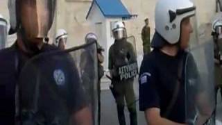 People of Greece are talking to Police -english subtitles
