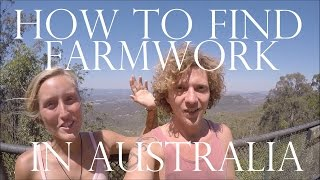 HOW TO FIND FARM WORK IN AUSTRALIA - WORK AND TRAVEL AUSTRALIA - TIPS / GUIDE FOR YOUR ADVENTURE