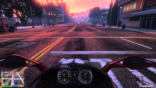 GTA 5 (PS4)  : Bike riding (first person mode)