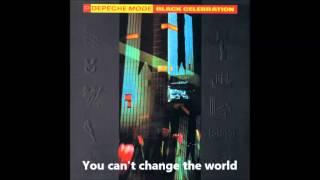 Depeche Mode - New Dress (lyrics)