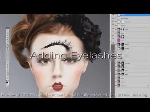 Geisha Makeup Retouching Tutorial - Preview 2