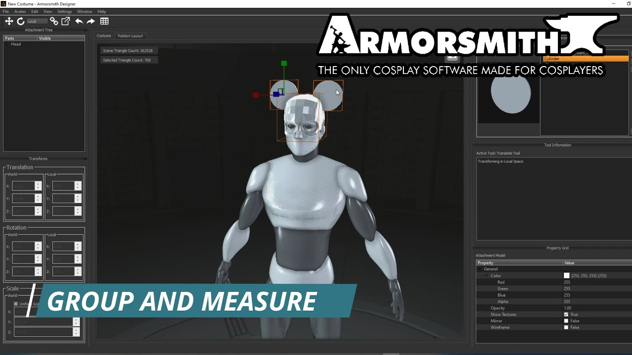 Grouping and Measuring in Armorsmith