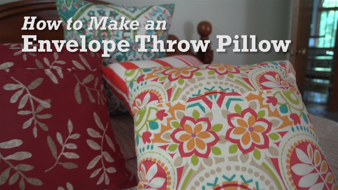 how to make an envelope throw pillow youtube. Black Bedroom Furniture Sets. Home Design Ideas