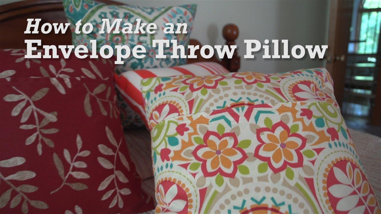 How to Make an Envelope Throw Pillow YouTube