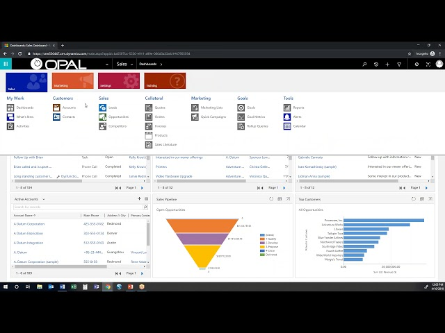 Microsoft Dynamics 365 Sales Out of the box features