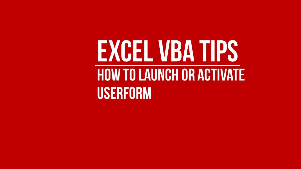 Worksheets Activate Worksheet Vba vba launch or activate userform from excel worksheet youtube worksheet