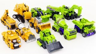 Transformers Combine Construction Hercules TransTruck Vehicle Robot Car Toys 트랜스포머 중장비 로봇 합체 변신 동영상