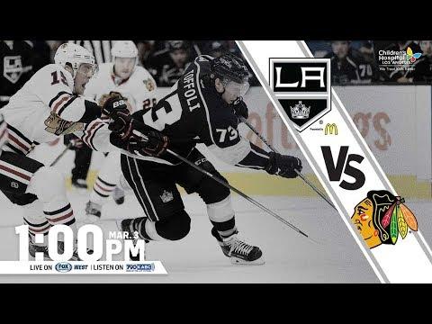 NHL 18 PS4. REGULAR SEASON 2017-2018: Chicago BLACKHAWKS VS Los Angeles KINGS. 03.03.2018. (NBCSN) !