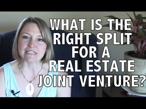 What is the Right Split for a Real Estate Joint Venture?