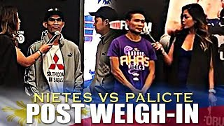 NIETES AND PALICTE POST WEIGH-IN INTERVIEW FOR SUPERFLY 3