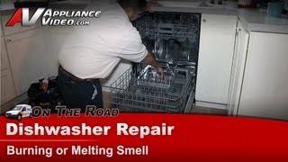 Kitchenaid, Whirlpool Dishwasher Repair - Burning or Melting Smell - KUDC10FXSS5