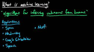 (ML 1.1) Machine learning - overview and applications