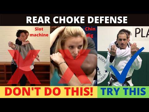 Jiu-Jitsu standing rear choke defenses.