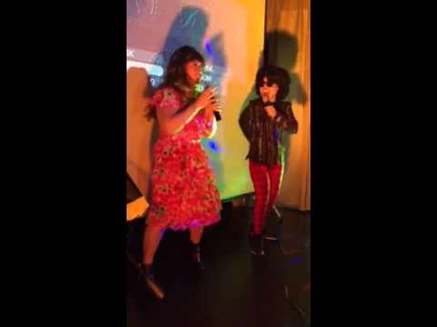 Kim and Janice karaoke