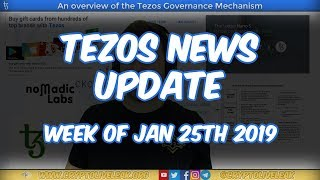 Tezos News Update | Week of January 25th 2019