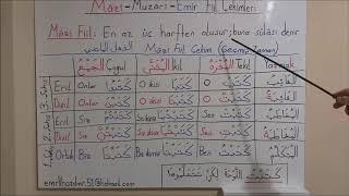 Arapçada Zamanlar (Mazi-Muzari Fiil Çekim Tablolusu)