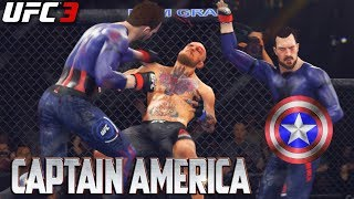 EA UFC 3: Captain America Is A BEAST! Avengers: Infinity War Creation - EA Sports UFC 3 Online