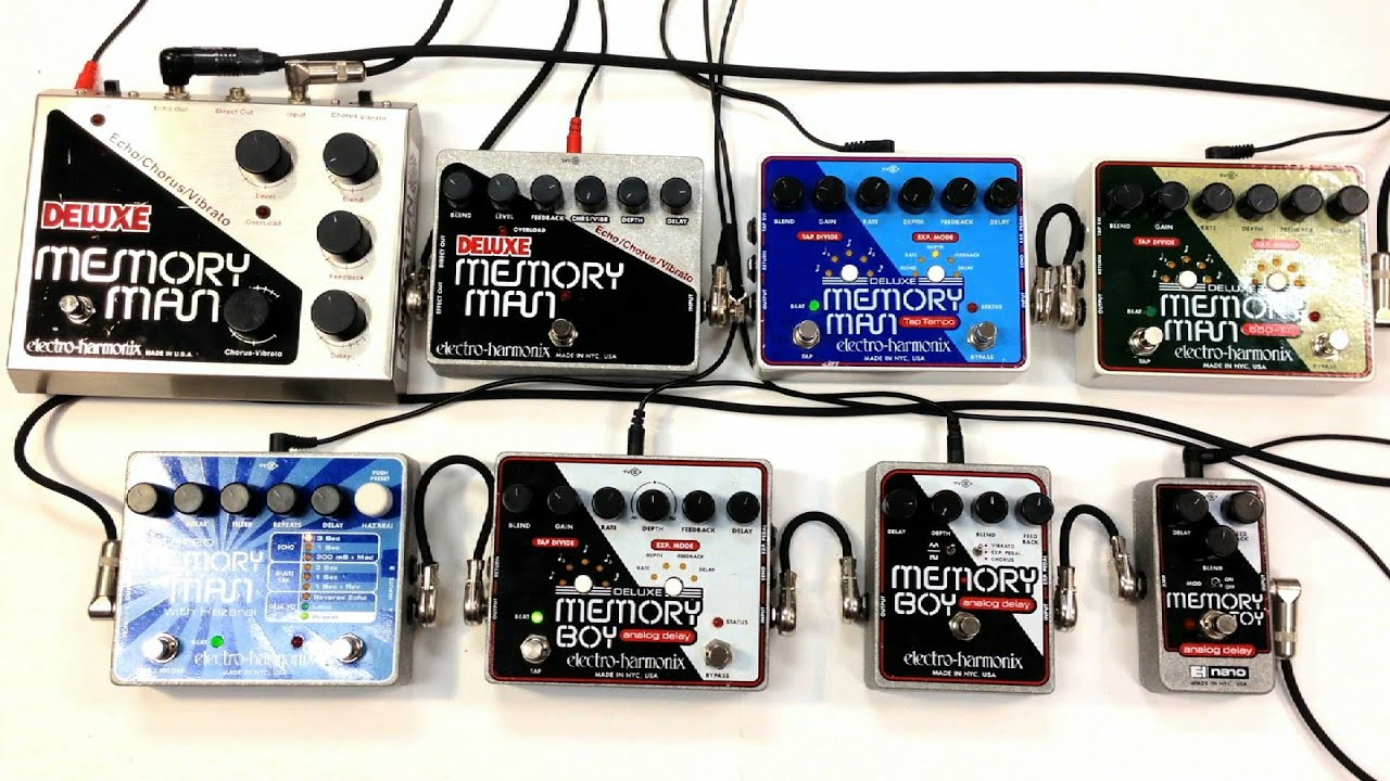 electro harmonix delay shootout deluxe memory man boy toy 550tt tap analog digital youtube. Black Bedroom Furniture Sets. Home Design Ideas