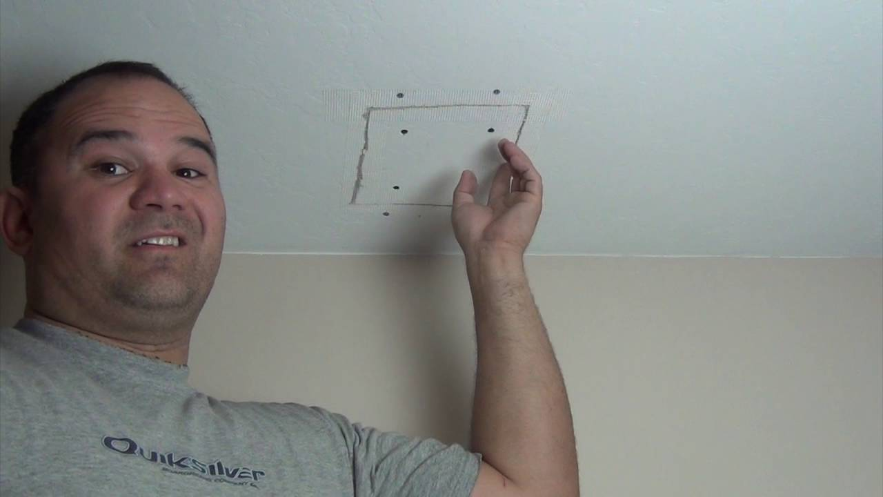 Easy Drywall Ceiling Patch You