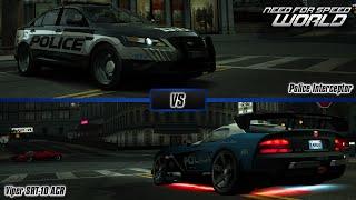 Need For Speed World: Ford Police Interceptor vs. Dodge Viper SRT-10 ACR