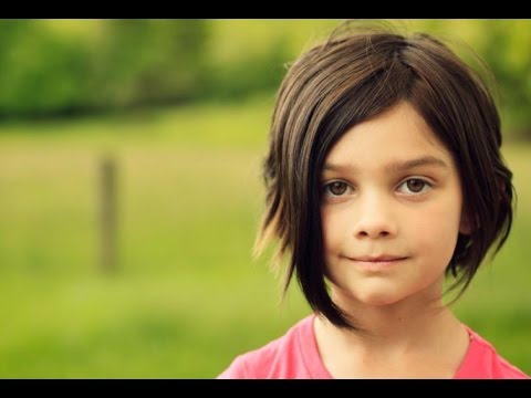 Short Hairstyles for Kids with Straight Hair - YouTube