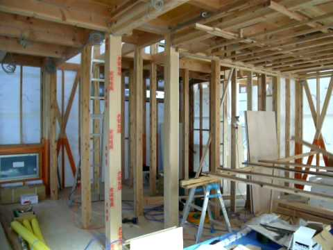 Construction Site Of A Japanese Wooden House Youtube