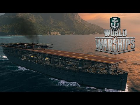 World of Warships - Air Strikes and Fire Support (Carrier and Battleship Coop Gameplay)