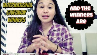 And the WINNERS are ..... My first International Giveaway ( Fil-Am Vlog )
