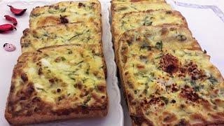 Kahvaltılık peynirli , yumurtalı ekmek dilimleri - İkramlık çıtır ekmek tarifi - Ev Lezzetleri
