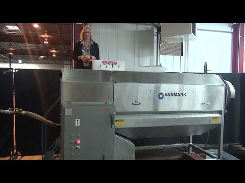 Vanmark Heavy Duty Brush Style Peeler/Scrubber Demonstration