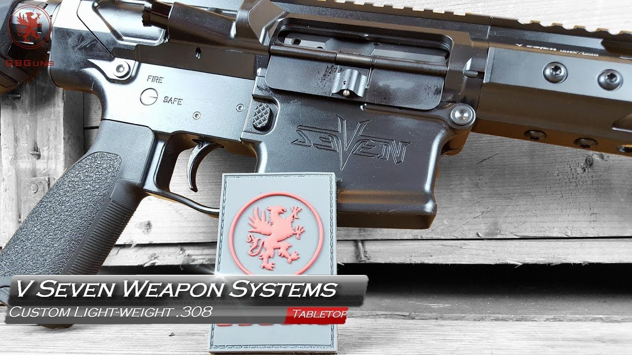 V Seven Weapon Systems Custom Light weight 308 AR-10 Tabletop