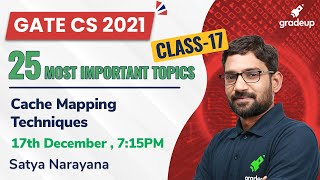 Download Cache Mapping Techniques   25 Most Important Topics for GATE CS 2021   Satya Sir   Gradeup