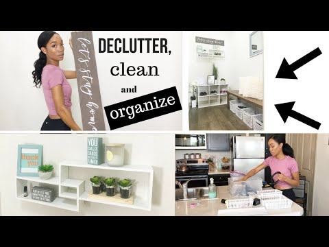 DECLUTTER, CLEAN, & ORGANIZE WITH ME! // STORAGE ROOM TRANSFORMATION // DECORATING SMALL SPACES