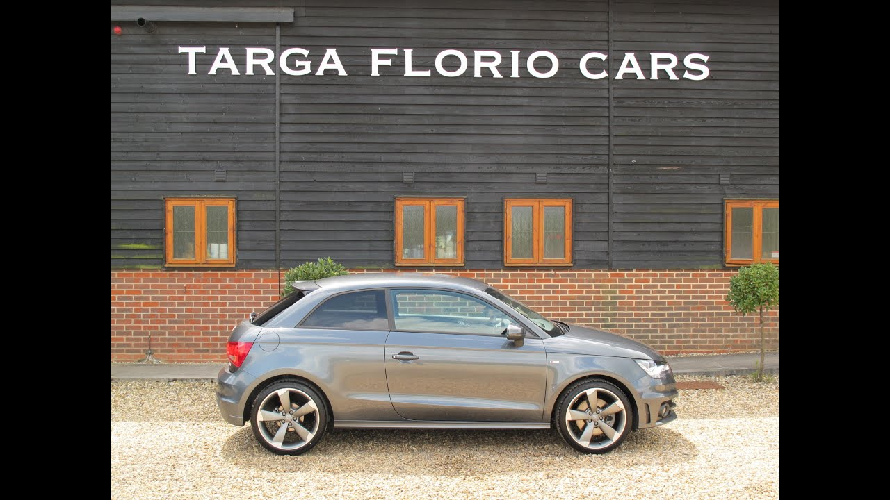 audi a1 s line 1 4 tfsi 185 black edition for sale at targa florio cars in sussex youtube. Black Bedroom Furniture Sets. Home Design Ideas