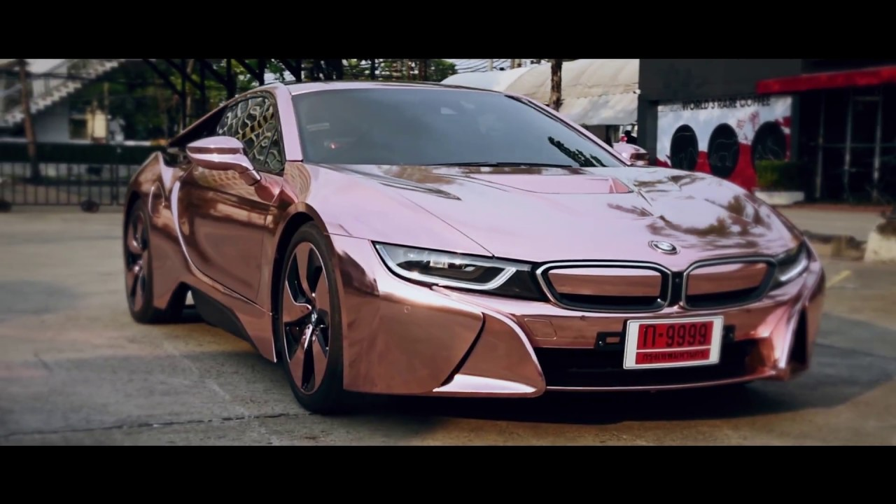 88 Rose Gold Gold Trim Bmw I8 Angel Design Uk Vehicle Wraps Bmw