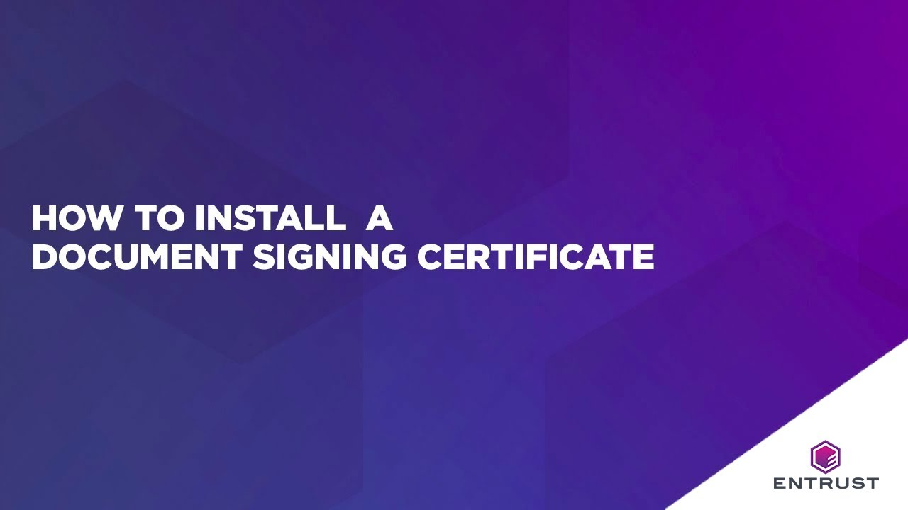 How to install document signing youtube how to install document signing entrust datacard 1betcityfo Image collections