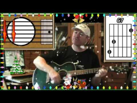 Winter Wonderland - Dean Martin - Acoustic Guitar Lesson (easy)