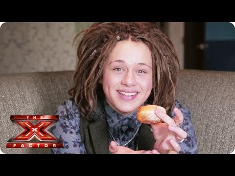 What is Luke Friend doing with that jam donut? - Samsung Video Diaries - The X Factor UK 2013